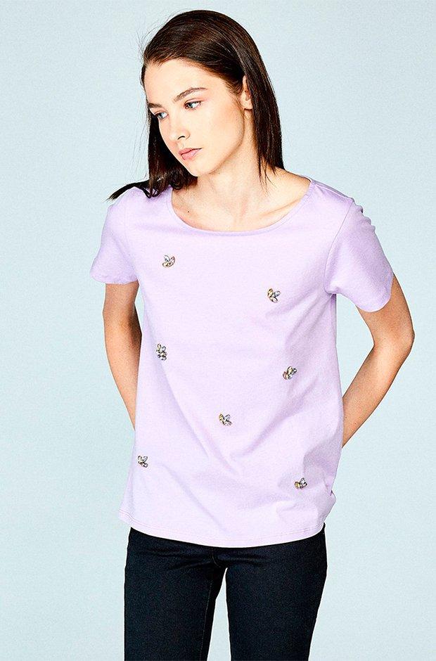 Camiseta joya en color lila