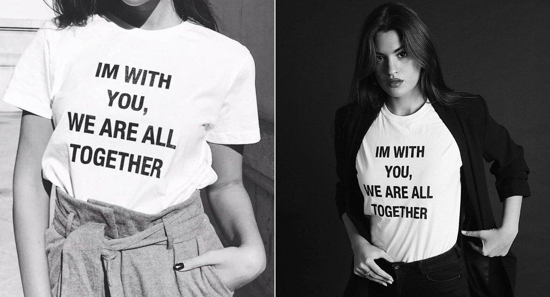 Solidaria Lozano Stylelovely Camiseta De La Marta XnwO80Pk