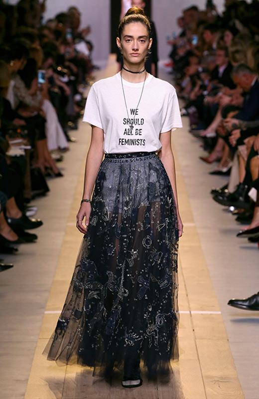 Camisetas con mensaje Dior