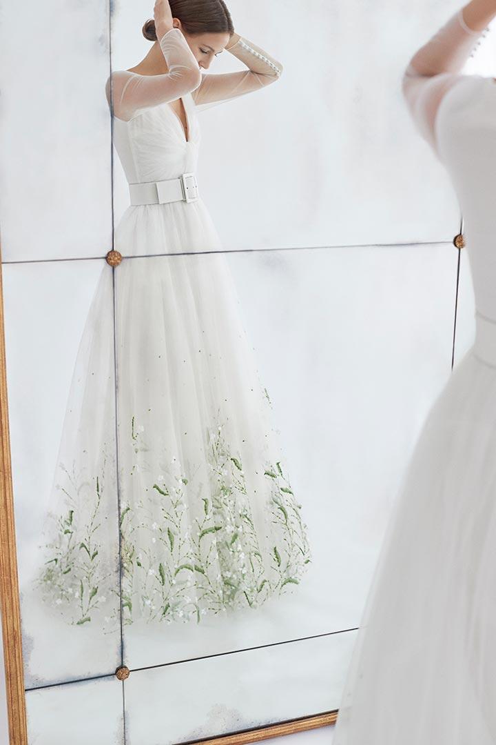 así son los vestidos de novia de carolina herrera para 2018