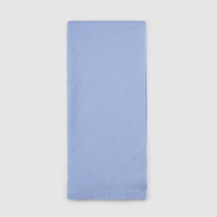 Bufanda de tricot azul celeste de Cashmere: ideas regalos navidad