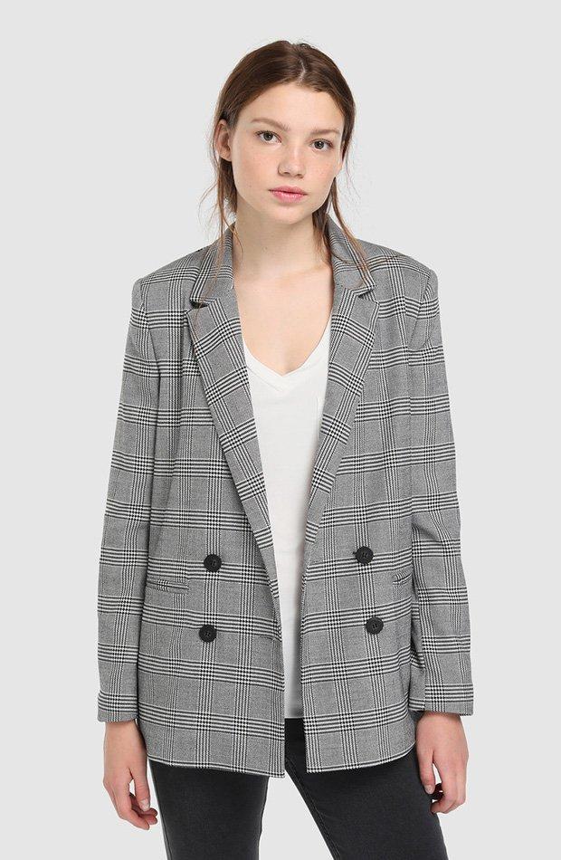 Blazer de cuadros gris Easy Wear