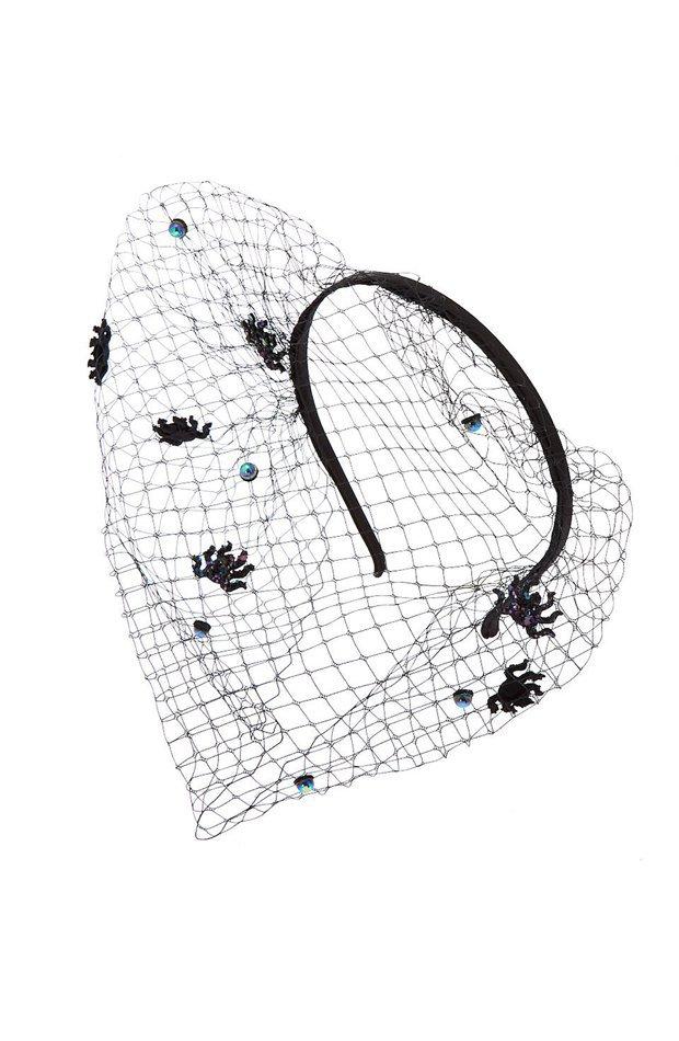 Diadema tela de araña de Claire's: productos maquillaje de halloween