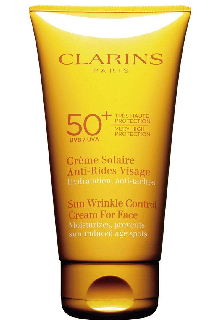 Crema antiarrugas con protección solar