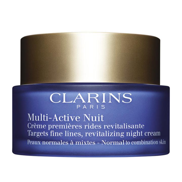 Crema Revitalizante Multi-Activa Noche Pieles Normales/Mixtas de Clarins: productos cuidar piel mientras duermes