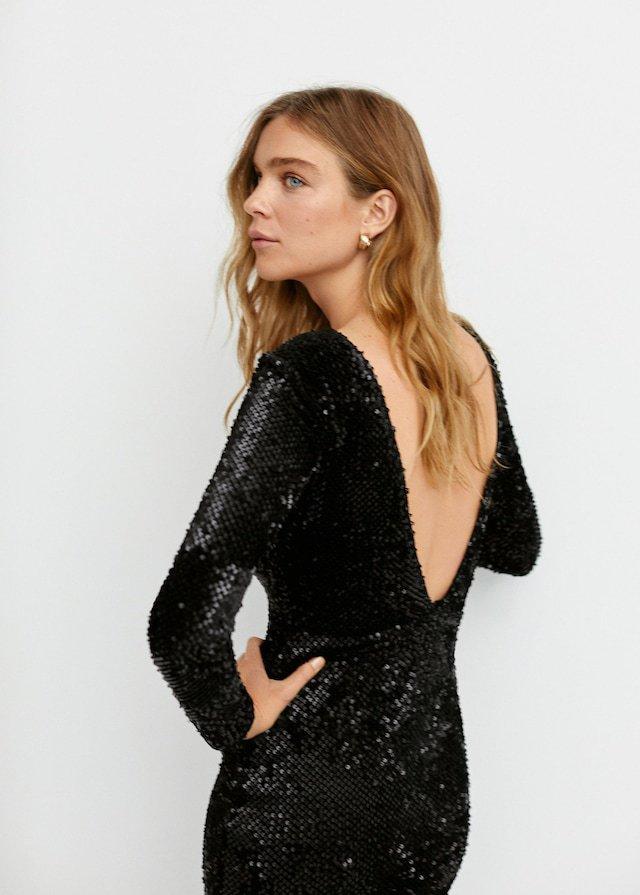Vestido de lentejuelas de la Colección fiesta de Mango 2018 2019