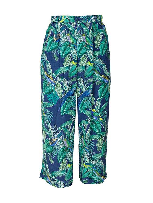 Pantalón de estampado tropical de la Colección Primavera Verano 2019 de Indi&Cold
