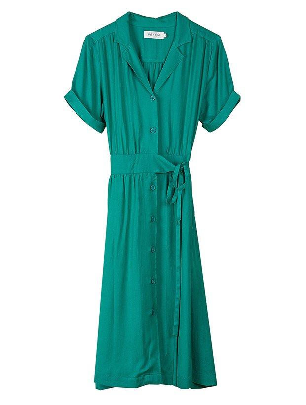 Vestido verde turquesa de la Colección Primavera Verano 2019 de Indi&Cold