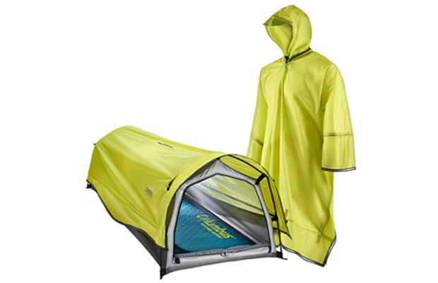 Acampada: tienda poncho para combatir la lluvia