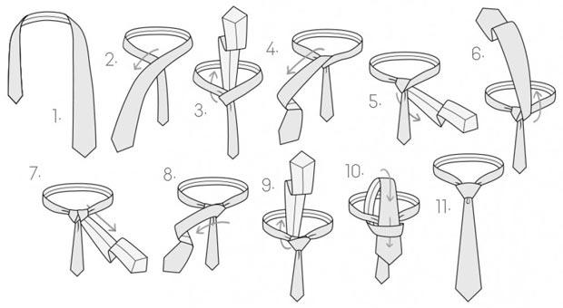 C mo hacer un nudo de corbata for Nudo de corbata windsor
