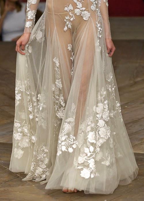 tendencia: vestidos efecto tatuaje estilos de novia, novias con