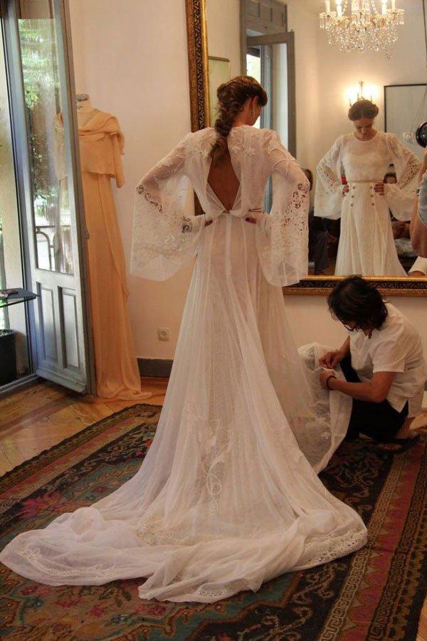 helena mareque vestido mangas bride sleeves