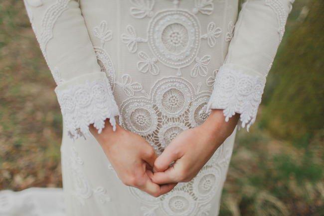vestido crochet boho novia bride
