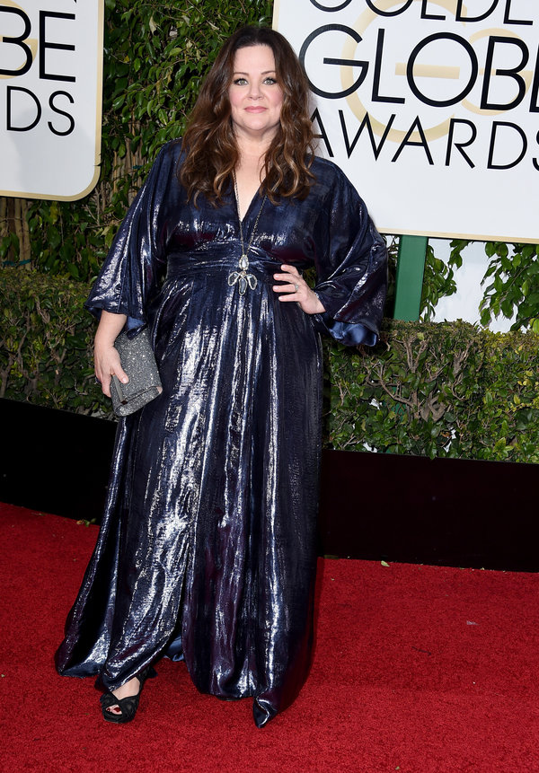 BEVERLY HILLS, CA - JANUARY 10: Actress Melissa McCarthy attends the 73rd Annual Golden Globe Awards held at the Beverly Hilton Hotel on January 10, 2016 in Beverly Hills, California. (Photo by Steve Granitz/WireImage)