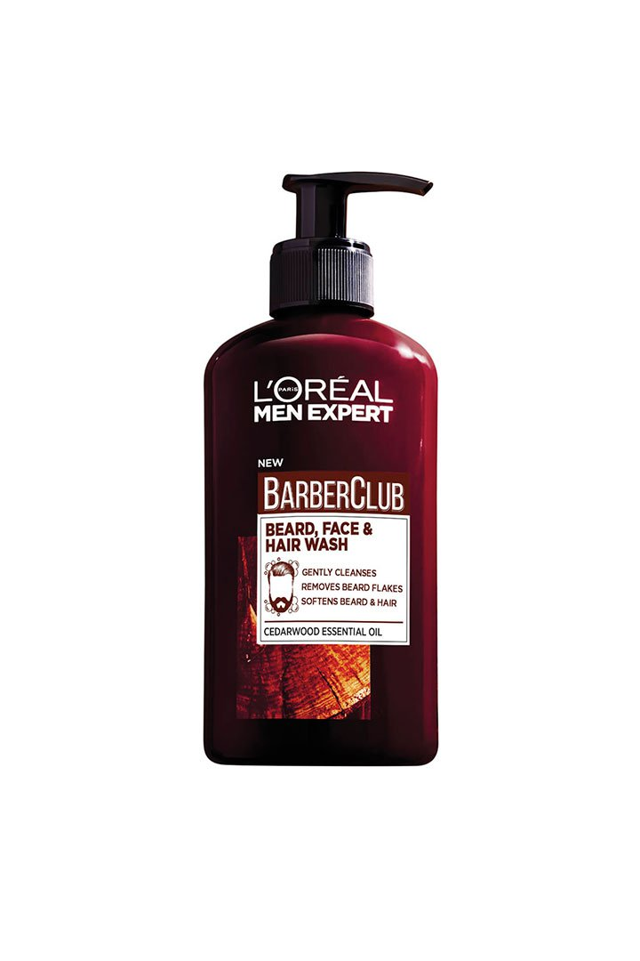 cosmetica masculina barber club wash loreal