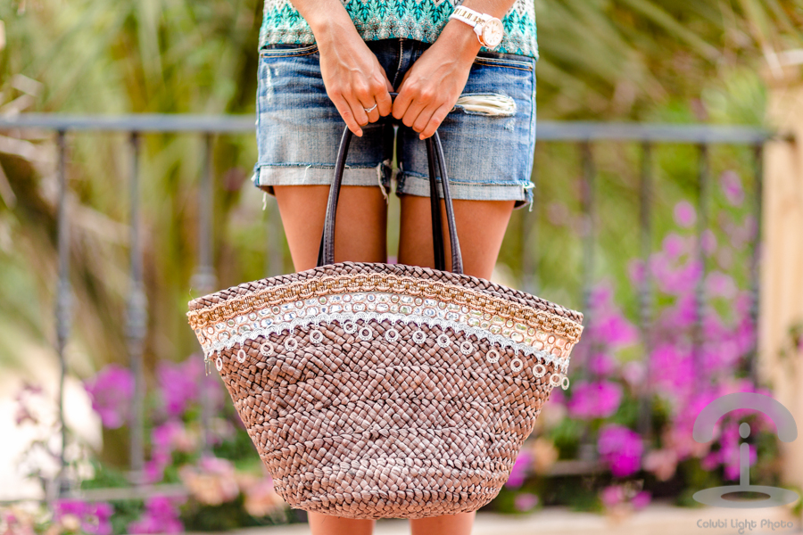 DIY Embellished Beach Bag Crimenes de la Moda