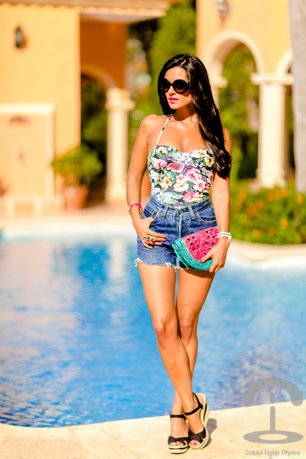 Floral Swimsuit Crimenes