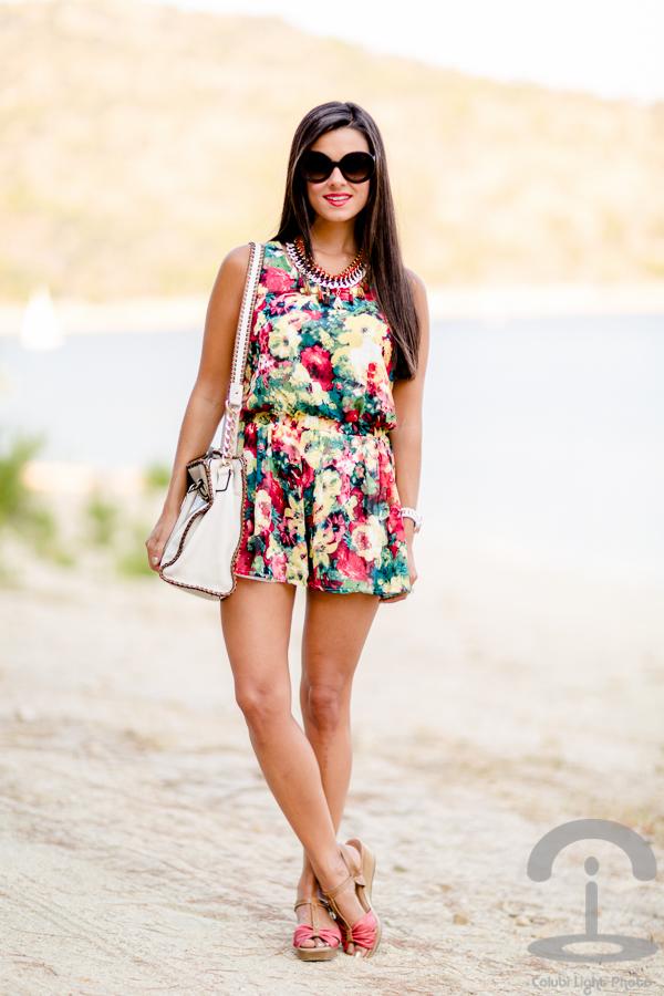 Floral Playsuit Crimenes de la Moda