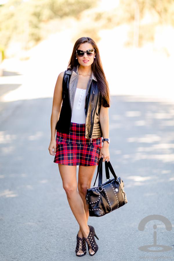 Tartan Skirt Crimenes de la Moda