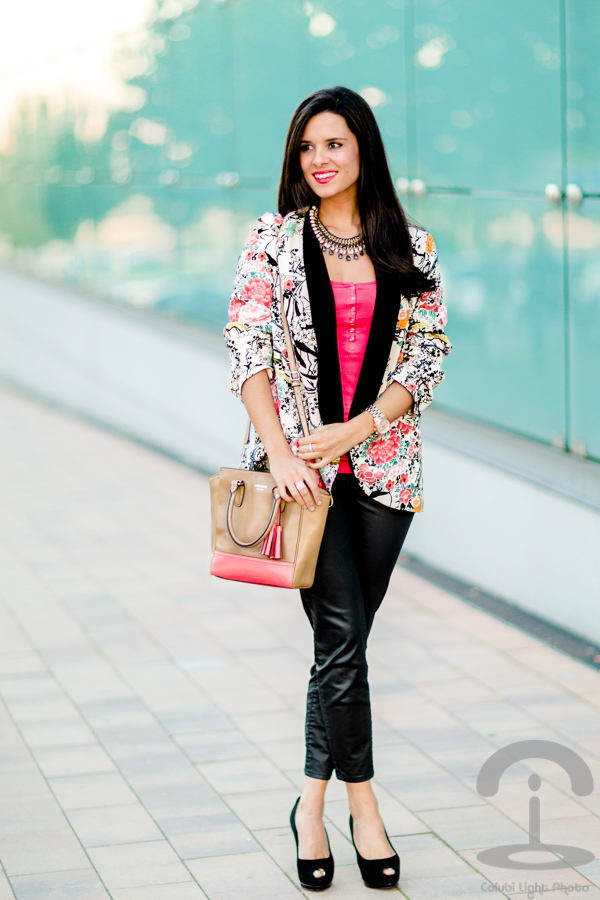Oriental Floral Blazer Crimenes de la moda