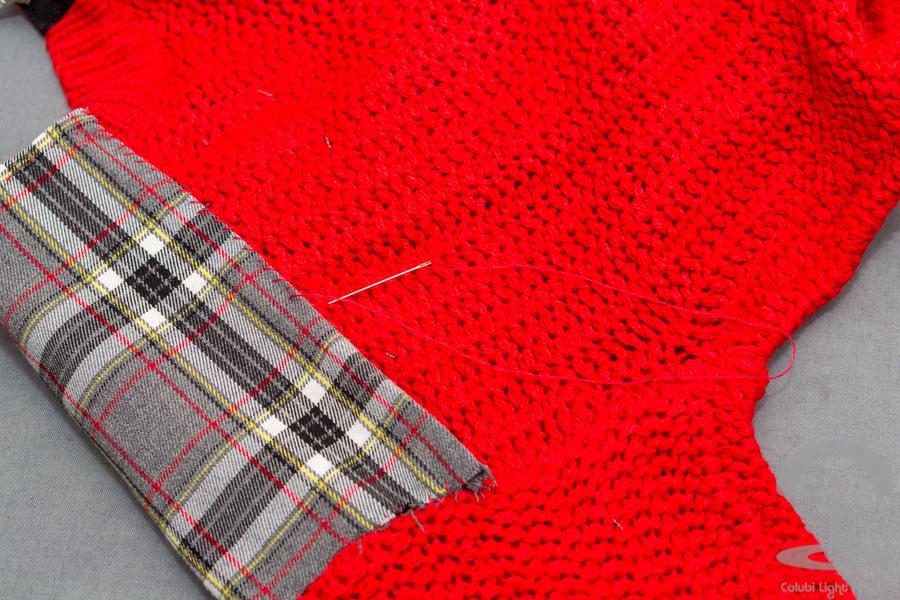 DIY Jersey tartán con tachuelas Crimenes de la Moda