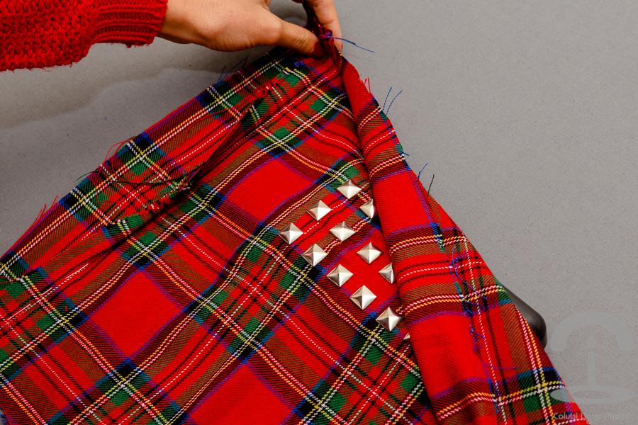DIY Clutch Tartan Crimenes de la Moda