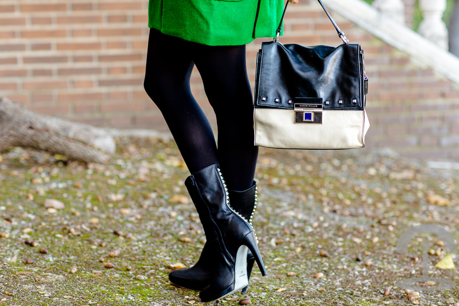 Abrigo verde Crimenes de la Moda