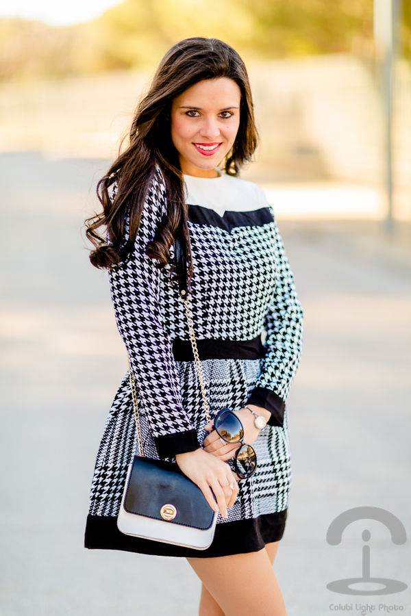 Vestido Pata de Gallo Crimenes de la Moda