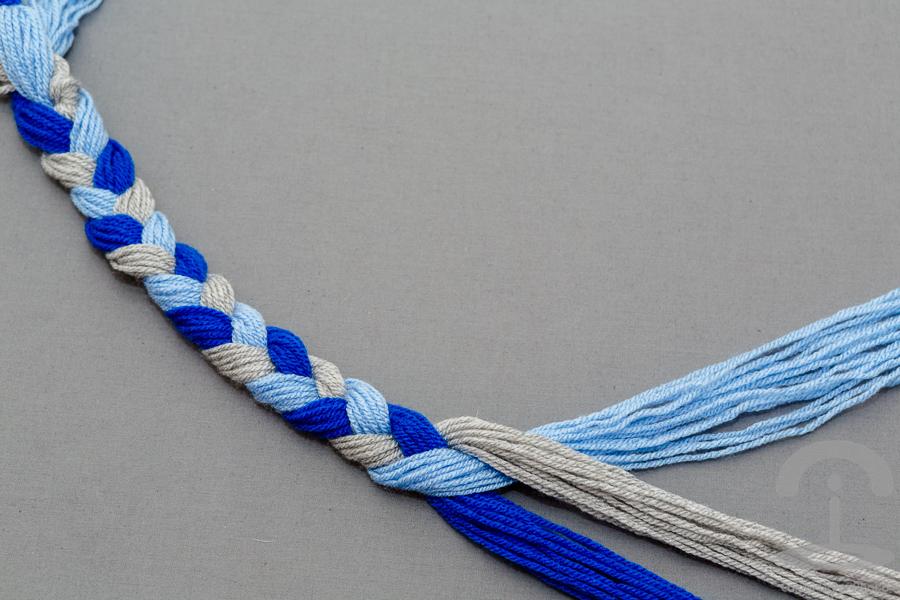 DIY Collar lana con cadenas Crimenes de la Moda