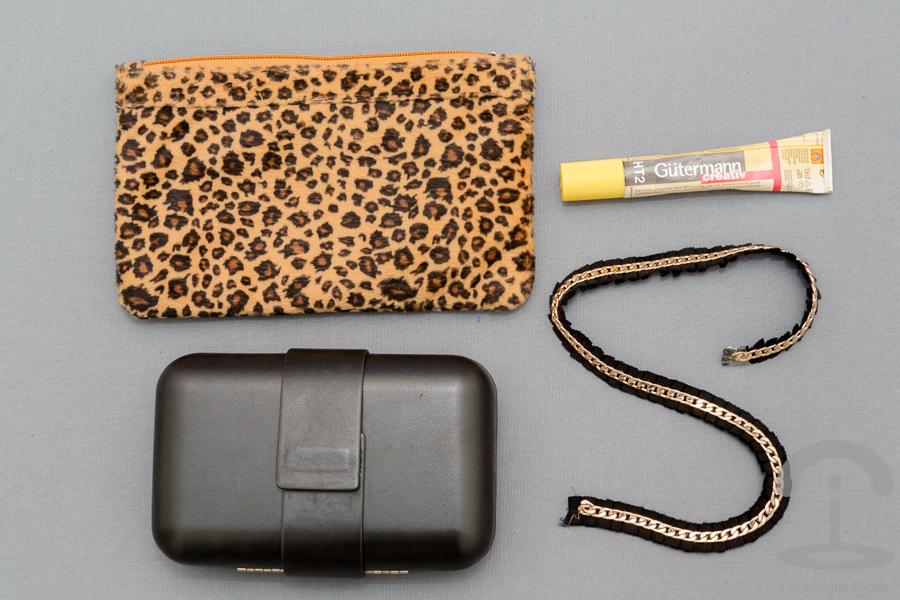 DIY Clutch con Cadena y Leopardo Crimenes de la Moda