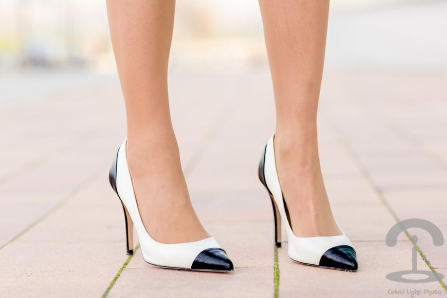 Vestido de rayas blanco y negro Crimenes de la Moda