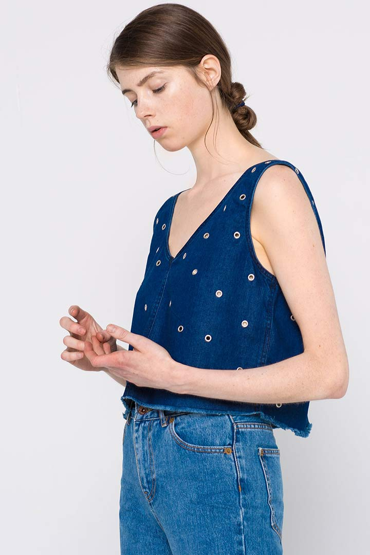 Crop top vaquero Pull and Bear