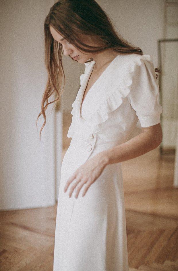 Vestido de novia con volantes de la colección Danseuse de Cherubina