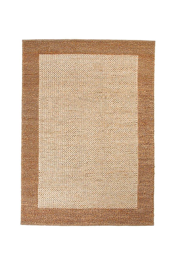 Decoración de terrazas: alfombra de ratán