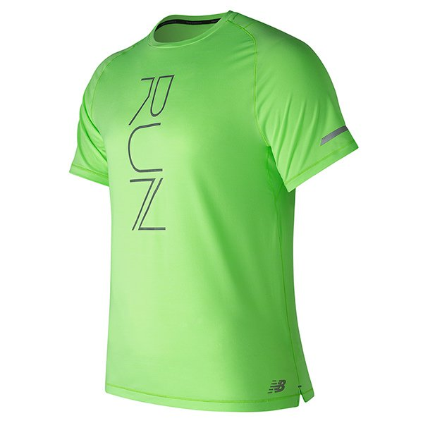 Camiseta verde flúor de New Balance para Primeriti