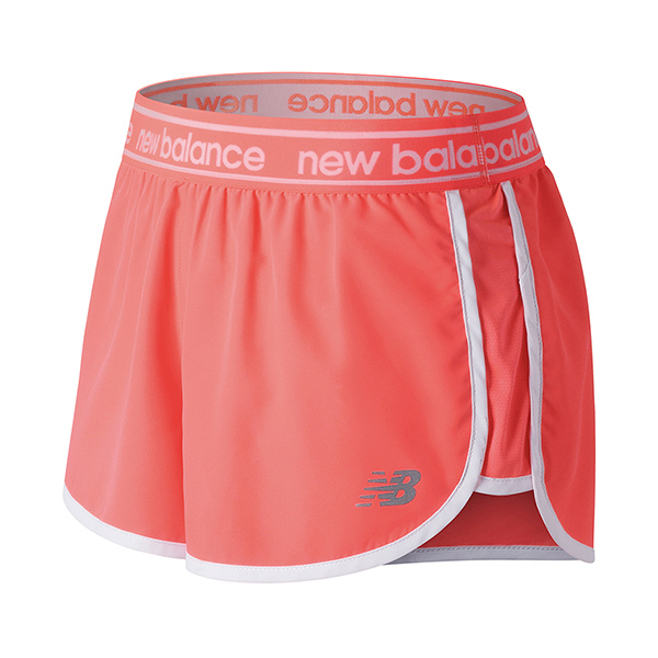 Shorts en color coral de New Balance para Primeriti