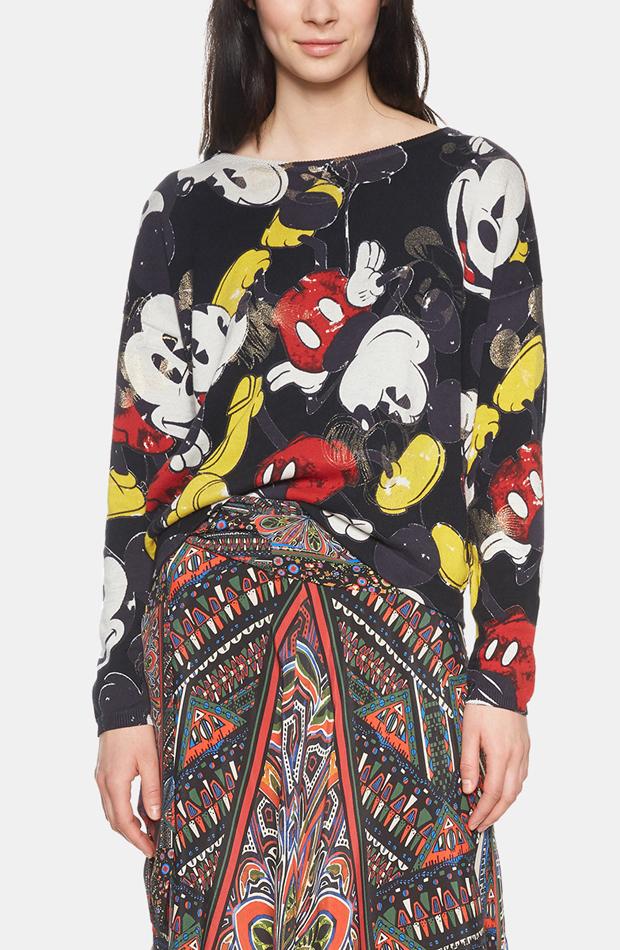 Jersey con print Mickey Mouse de Desigual: jerséis otoño invierno 2018