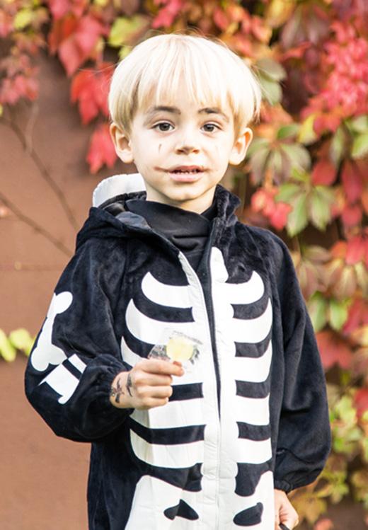 disfraces para Halloween de El Corte Inglés, Leonardo de esqueleto