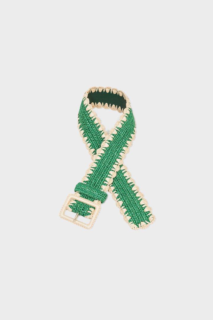 Cinturón de crochet verde de Dolce&Gabbana