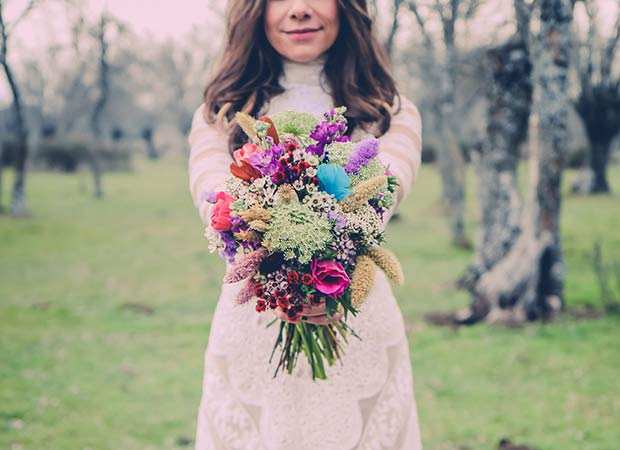 Raquel vestida de novia © Natalia Ibarra
