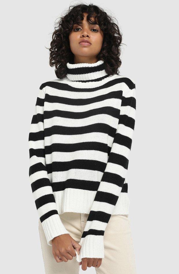 Jersey de rayas con cuello cisne de Easy Wear: jerséis otoño invierno 2018