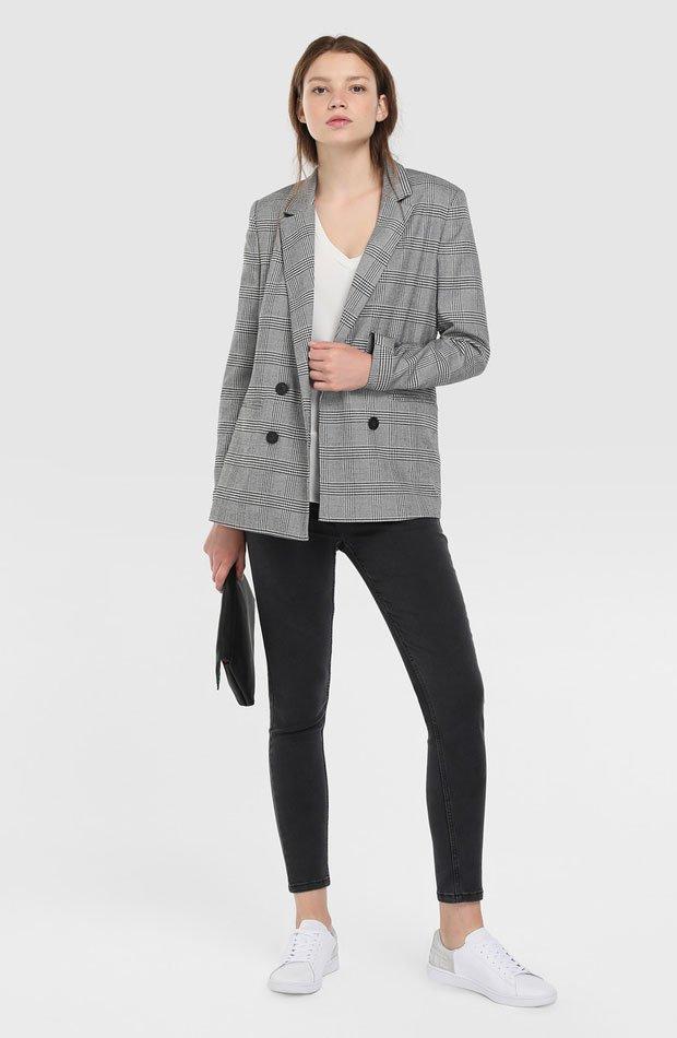 Blazer de cuadros de Easy Wear: prendas volver rutina