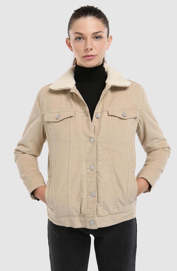 Cazadora de pana con borrego de Easy Wear: abrigos tendencia