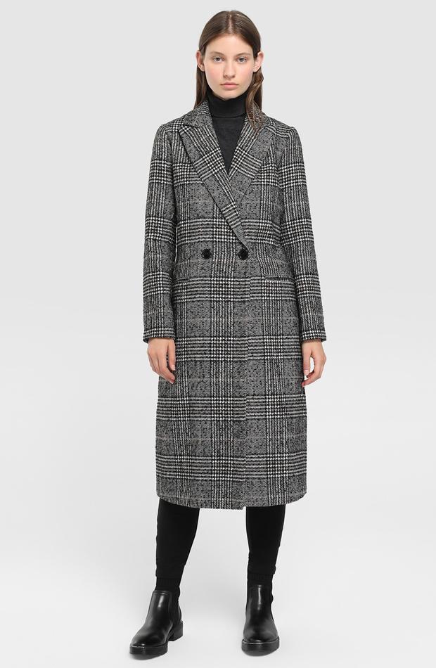 Abrigo largo de cuadros de Easy Wear: abrigos tendencia