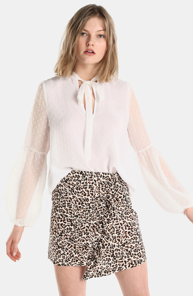 Falda de leopardo con volantes de Easy Wear: rebajas looks de otoño