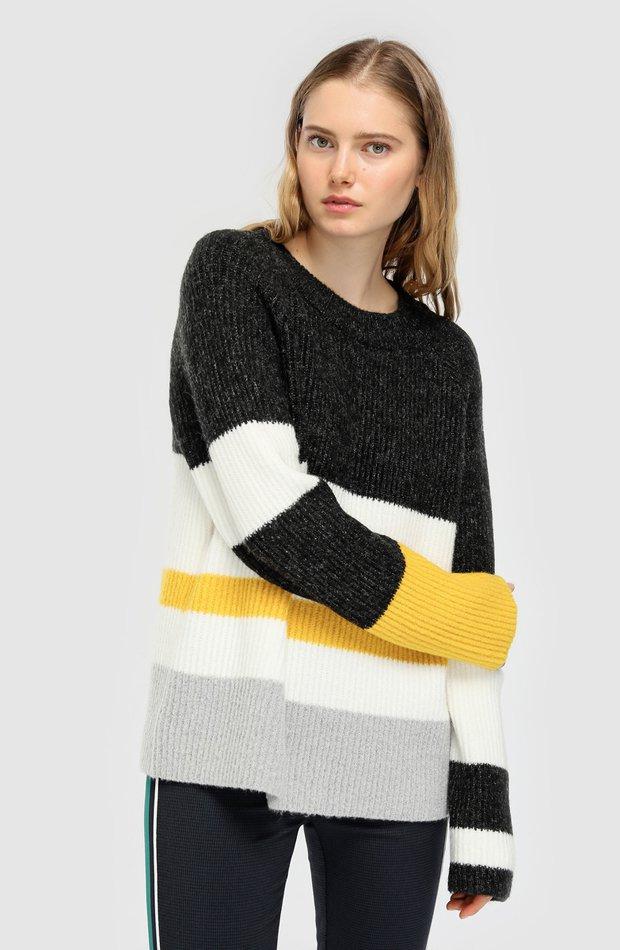 Jersey de rayas con manga larga de Easy Wear: jerséis otoño invierno 2018
