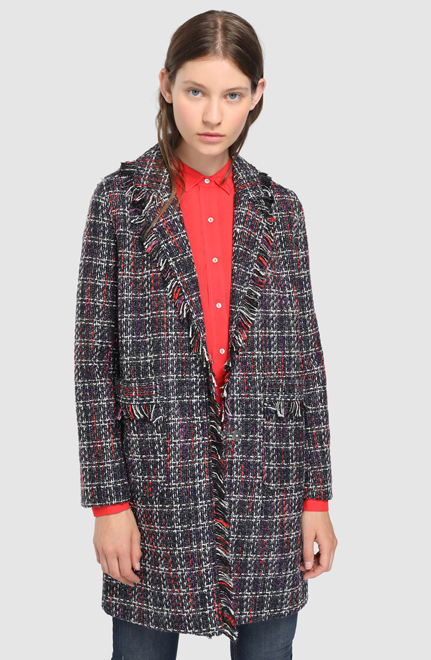 Abrigo de tweed con flecos de Easy Wear: abrigos tendencia