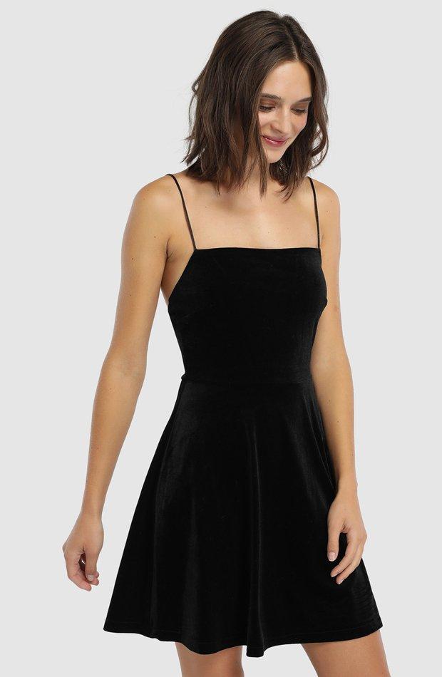 Vestido de terciopelo con tirantes de Easy Wear: prendas it girl