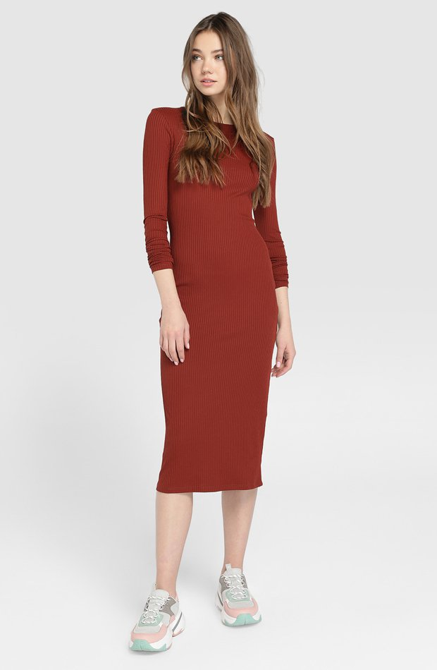 Vestido largo de canalé de Easy Wear: vestidos primavera 2019