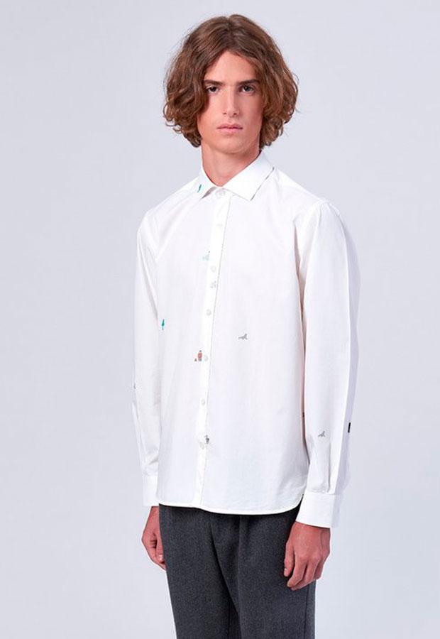 Camisa blanca de Edmmond AW 2018
